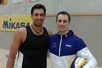 Jan Dumek (vpravo) s Jonathanem Ermannem
