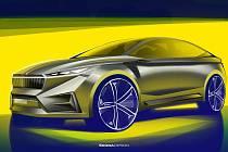 Škoda Auto poodhalila první skici elektromobilu.