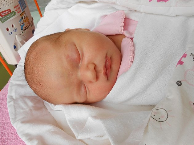 Anička Levková se narodila 4. června, vážila 3,79 kg a měřila 51 cm. Maminka Tereza a tatínek Jan si ji odvezou domů do Chocnějovic, kde už se na ni těší bráška Vojtíšek.