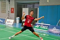 Benátský badmintonista Cristian Savin z Rumunska.
