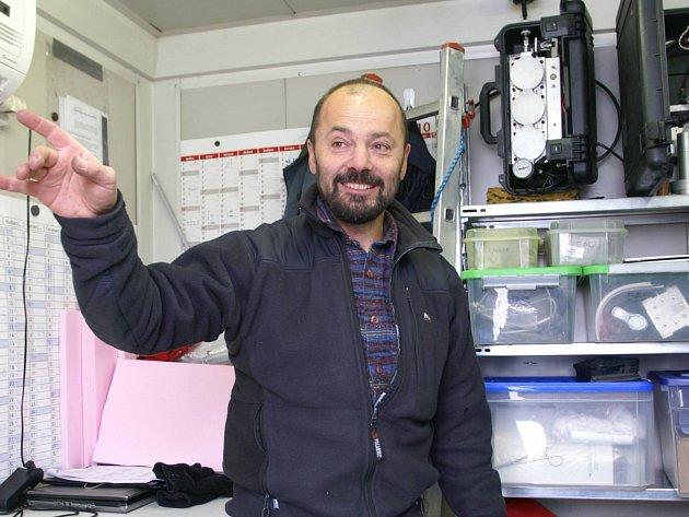 Šéf party meteorologů, jež přijeli do Mladé Boleslavi měřit kvalitu ovzduší