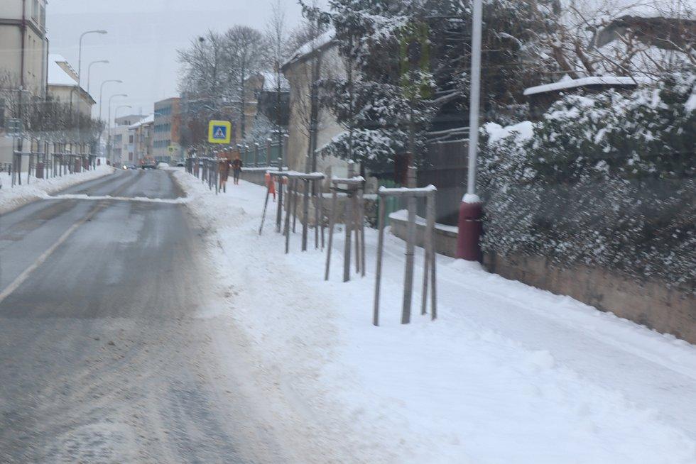 Mladou Boleslav zasypal sníh -Jaselská
