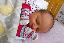 Veronika Richterová se narodila 10. listopadu, měřila 2,95 kg a vážila 48 cm. S maminkou Eliškou a tatínkem Robinem bude bydlet Řepově, kde už se na ni těší bráška Dominik.