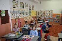 Prvňáci ze Základní školy v Dukelské