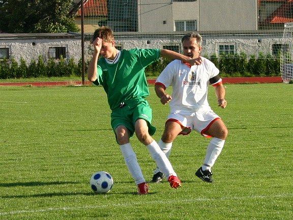 Ze zápasu IV. třídy Sporting Mladá Boleslav - Doubrava B