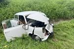 Z dopravní nehody na dálnici D10 v úterý 20. července 2021.