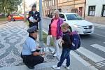 """Z preventivního policejního projektu """"Zebra se za Tebe nerozhlédne!"""" v Bělé pod Bezdězem."""
