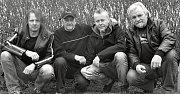 Rocková skupina Diskant - současnost, rok 2016. Zleva: Jaroslav Hoření, Vladislav Fanta, Miroslav Horna, František Brunclík.