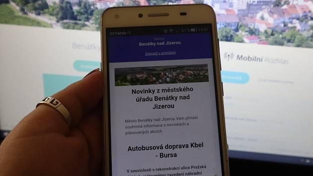 Benátky rozjíždějí Mobilní rozhlas.