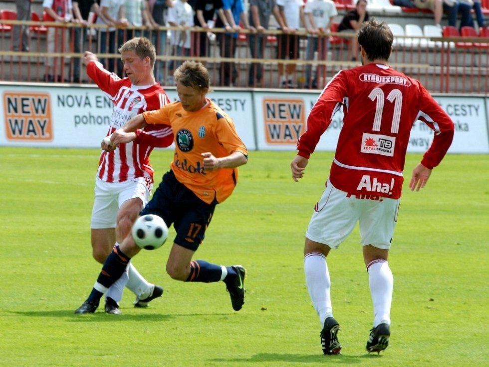 Ze zápasu Viktoria Žižkov - FK Mladá Boleslav