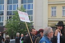 Boleslavané demonstrovali proti premiérovi Andreji Babišovi