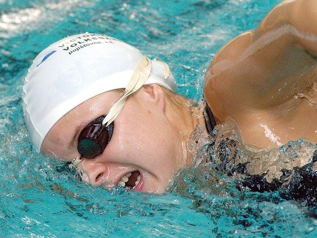 Kateřina Černíková patřila k hvězdám plaveckého šampionátu.