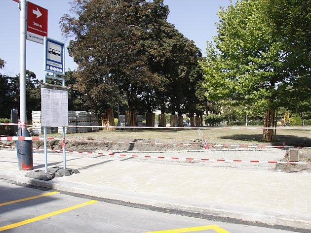 Dočasná autobusová zastávka u Výstaviště