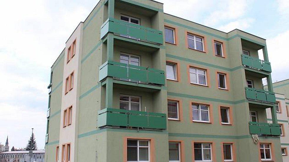 Bývalý vojenský objekt v Čáslavi, jsou tu bytové jednotky.