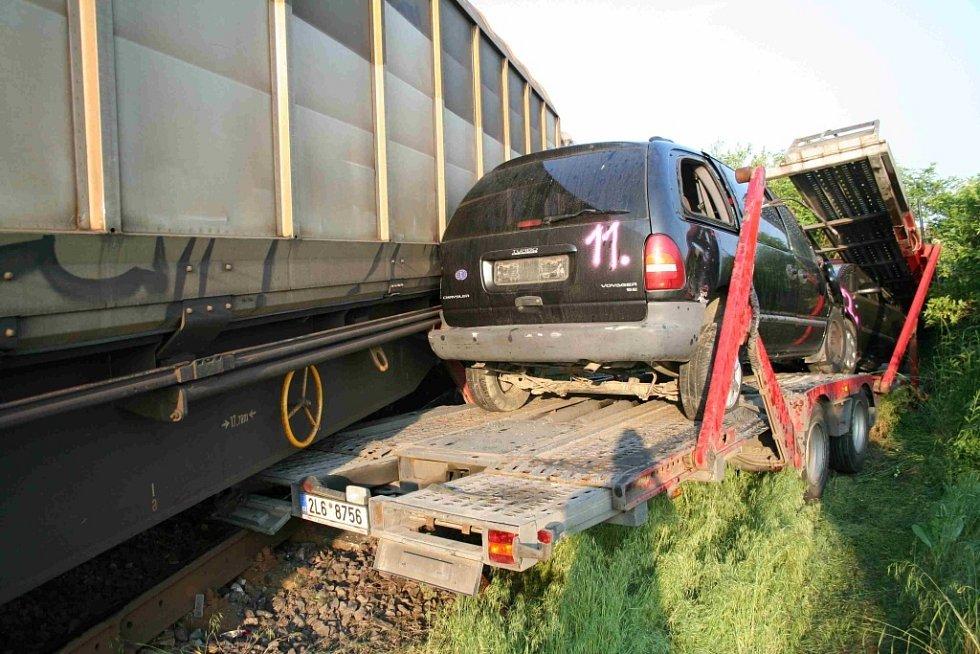 Nehoda kamionu v obci Netřeba