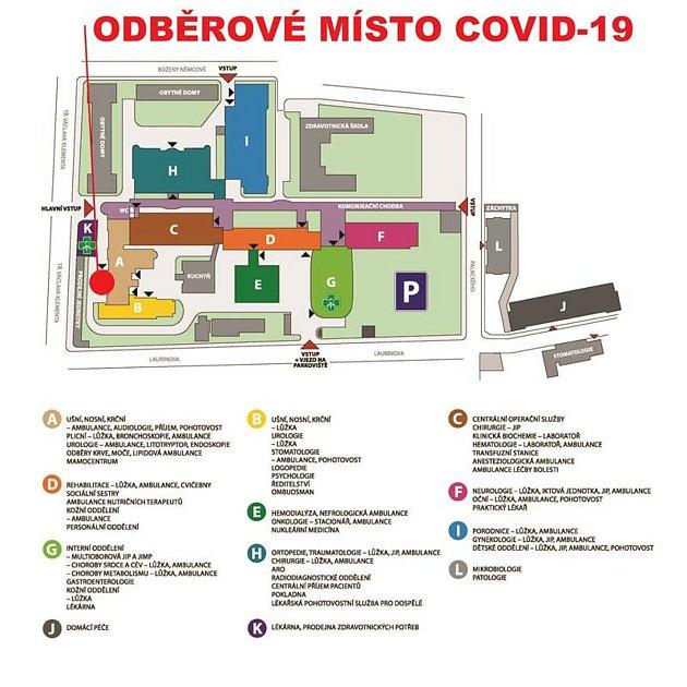 Přestěhované odběrové místo pro Covid - 19
