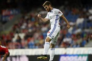Dominik Mašek a jeho gólová radost. Proti Jablonci zvyšoval na 2:0.
