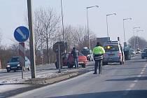 Sobotní dopravní nehoda u Hypernovy v Mladé Boleslavi