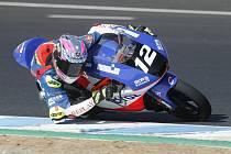 Filip Salač na trati v Jerezu.