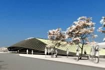 Finální návrh budovy hlavního nádraží v Mladé Boleslavi.