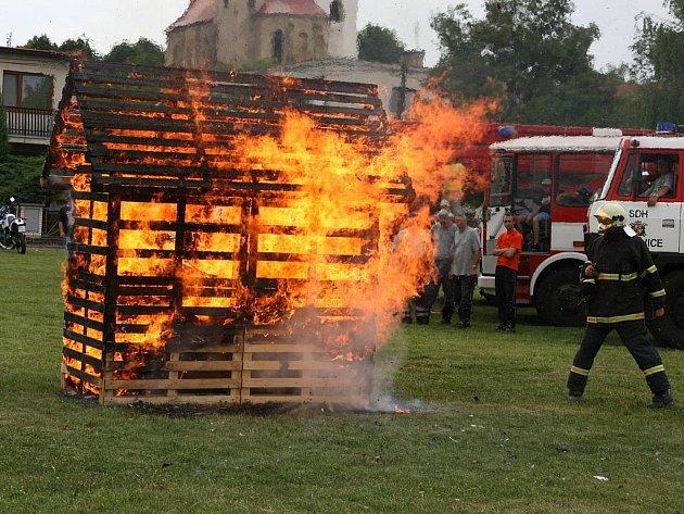 Hasičské oslavy v Sýčině.