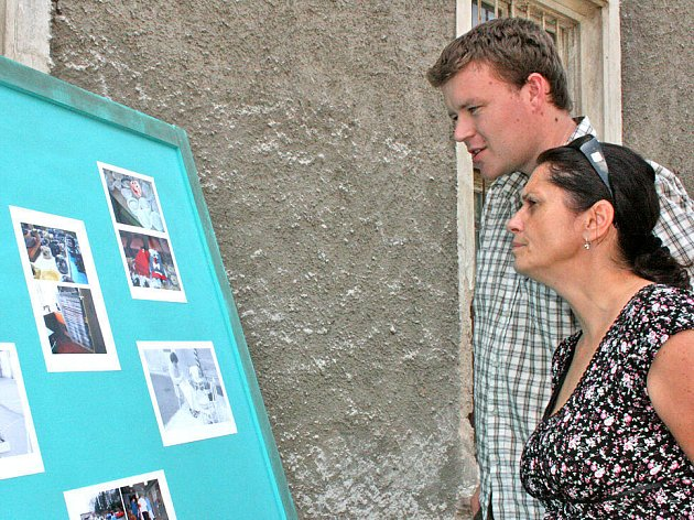 Návštěvníci měli možnost vidět fotografie z provozu psychiatrické léčebny.