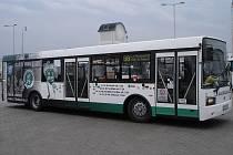 Hokejový autobus Dopravního podniku Mladá Boleslav.