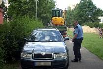 Ukradené auto se našlo ve Václavkově ulici.