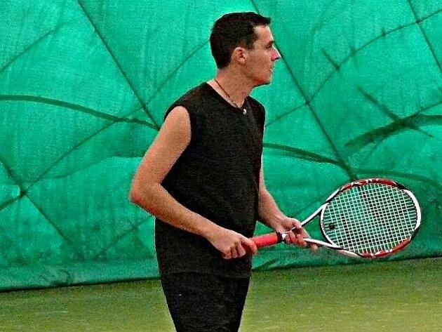 Vítěz tenisové ligy amatérů Mladoboleslavska František Tejbus.