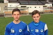 Odchovanci Mnichova Hradiště Adam Knobloch (vlevo) a Filip Střiženec se dostali do liberecké jedenáctky roku