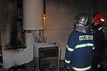 Sklep, kde k požáru došlo