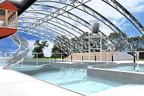 Jedna z původně zamýšlených variant zastřešení mladoboleslavského koupaliště (aquaparku). Dnes od této varianty město upouští.