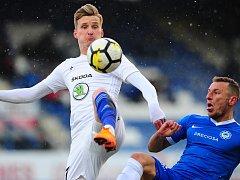 Zápas Mladé Boleslavi v Liberci doprovázel třeskutý mráz.