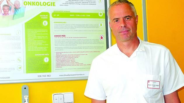 Tomáš Vlásek, primář oddělení onkologie v Kladiánově nemocnici