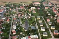 Letecký pohled na Luštěnice