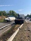 Převrácená cisterna na dálnici D10 na Mladoboleslavsku.