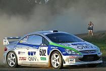 Štěpán Vojtěch na trati Rally Bohemia 2006