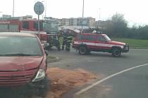 Dopravní nehoda na kruhovém objezdu
