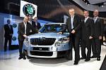 Vedení Škody Auto představilo nový vůz Škoda Yeti na autosalonu v Ženevě.