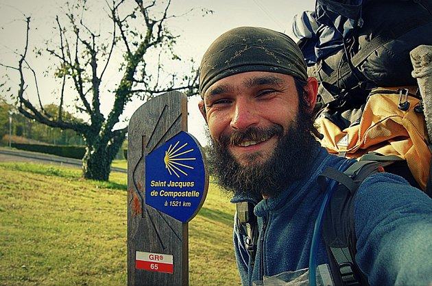 Poutník Petr Hirsch na cestě do Santiaga de Compostela