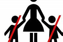 Zákaz vstupu dětem. Ilustrační foto