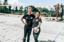 Boleslavské volejbalistky na turnaji v Poděbradech