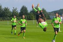 Jimmy Peremene Gidion slaví saltem třetí gól v domácí síti