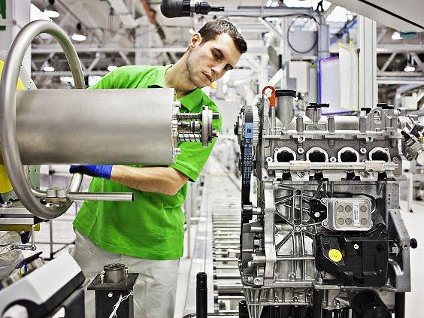 Škoda Auto - výroba nových motorů - ilustrační foto