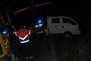 Dopravní nehoda mezi obcemi Kolomuty a Holé Vrchy