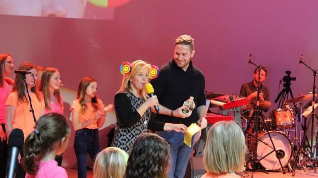44. ročníku autorské soutěže Dětská nota. Na snímku vítěz Adam Koubek.