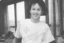 Vítězka ankety Sportovec Mladoboleslavska 1993 - tehdy třináctiletá plavkyně Lucie Šilhánová, v současnosti moderátorka rádia Evropa 2