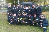 Hasiči na soutěži Železný hasič v Katusicích