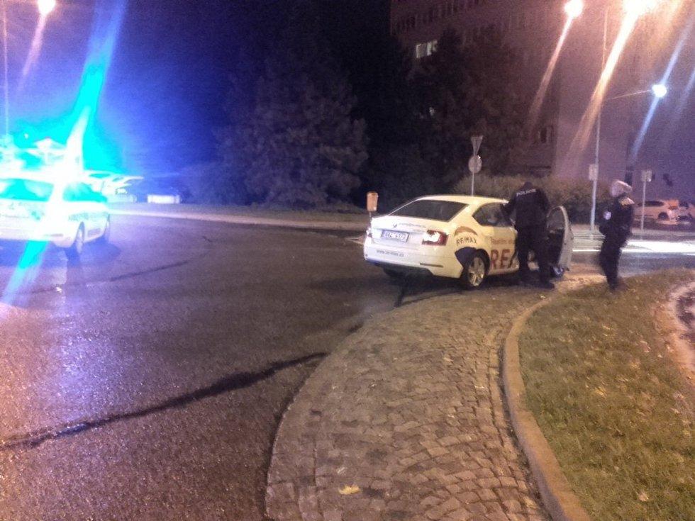 Incident v ulici U Stadionu v Mladé Boleslavi.