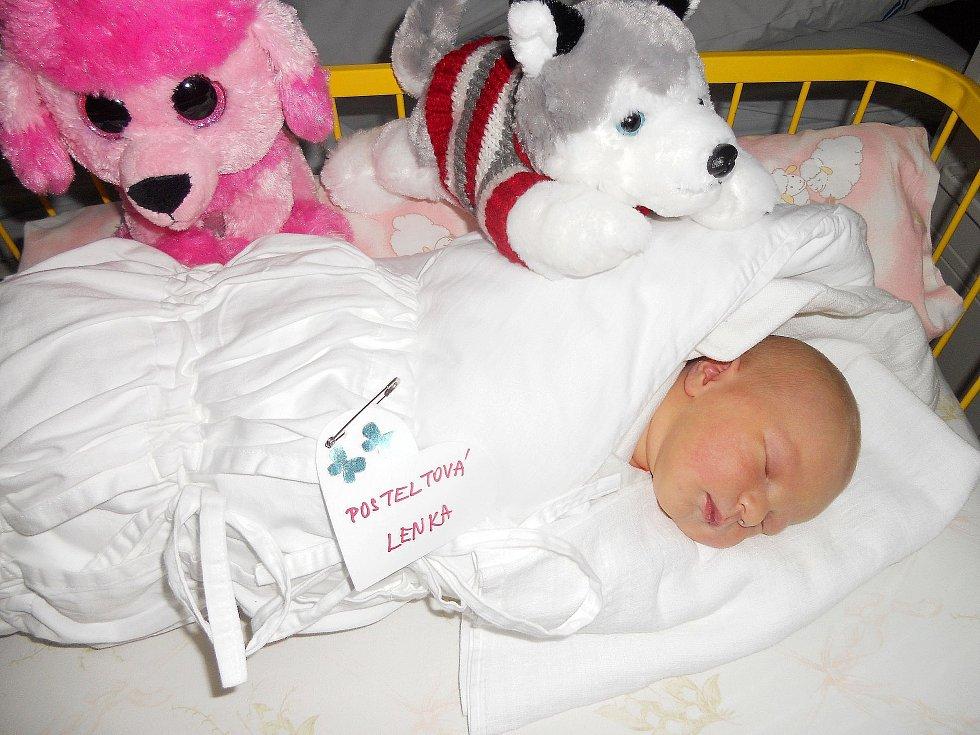 Lenička Posteltová se narodila 17. listopadu, vážila 3,46 kg a měřila 51 cm. S maminkou Lenkou a tatínkem Miroslavem bude bydlet v Katusicích.